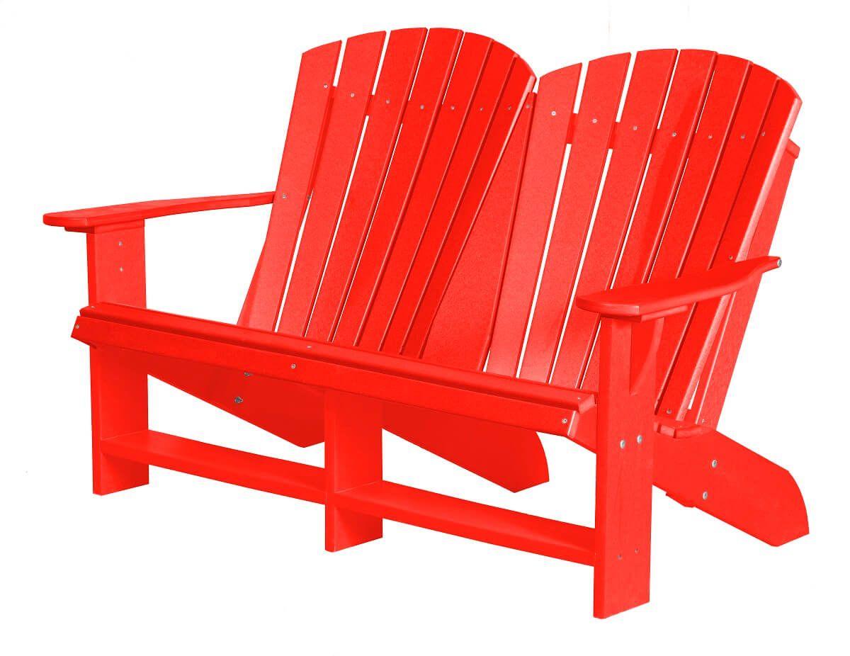 Bright Red Sidra Double Adirondack
