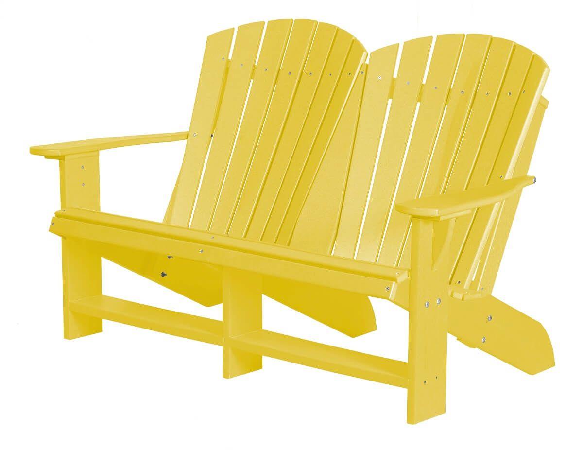 Lemon Yellow Sidra Double Adirondack