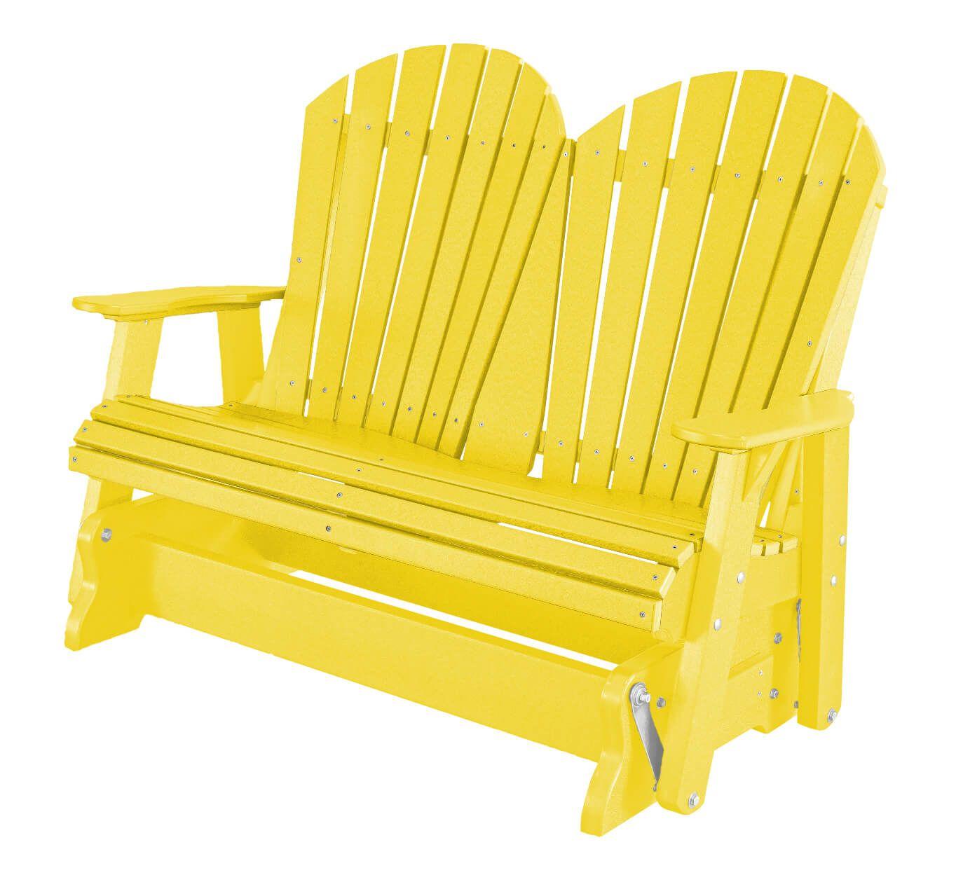 Lemon Yellow Sidra Outdoor Double Glider