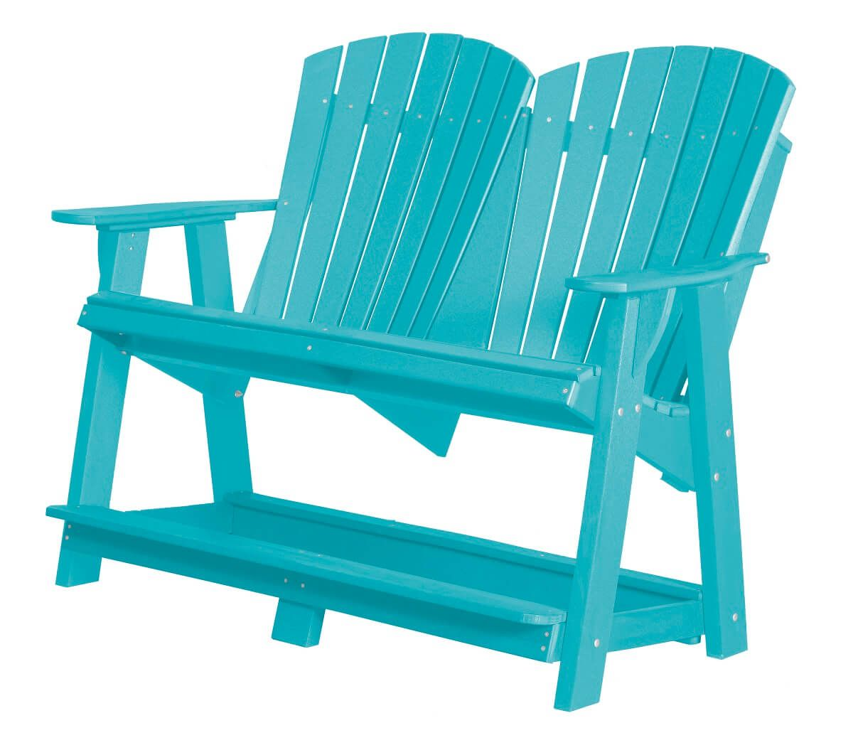 Aruba Blue Sidra Double High Adirondack