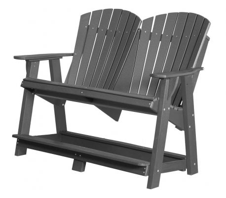 Dark Gray Sidra Double High Adirondack