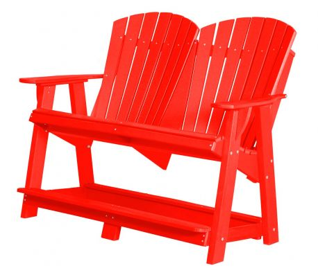 Bright Red Sidra Double High Adirondack