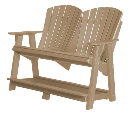 Weathered Wood Sidra Double High Adirondack