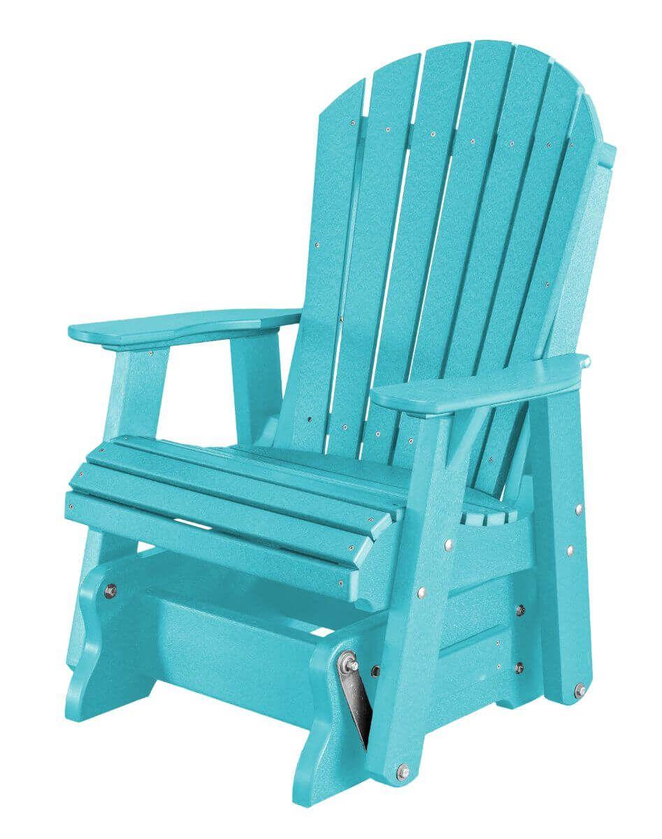 Aruba Blue Sidra Outdoor Glider Chair