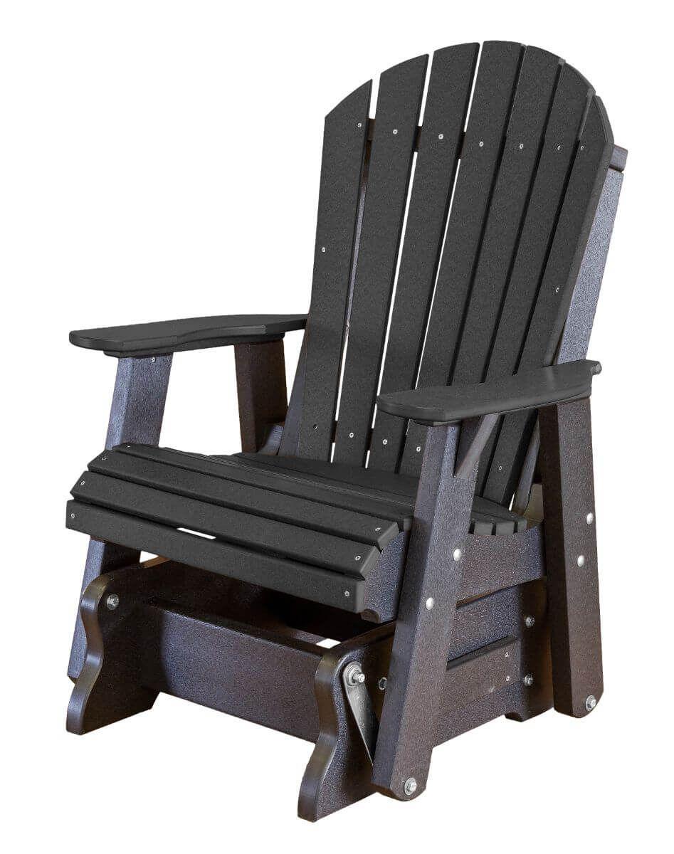 Black Sidra Outdoor Glider Chair