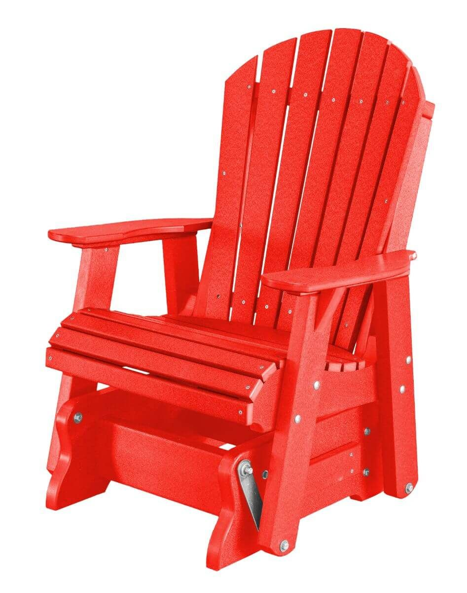 Bright Red Sidra Outdoor Glider Chair