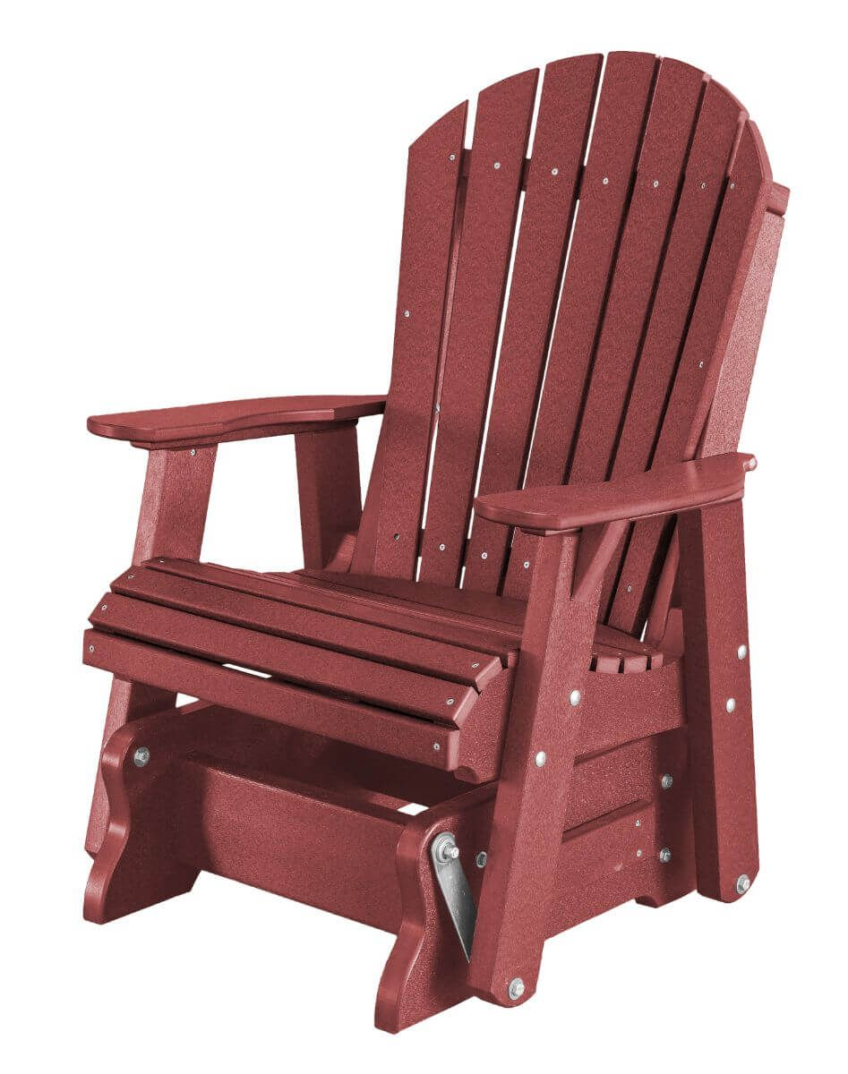 Cardinal Red Sidra Outdoor Glider Chair