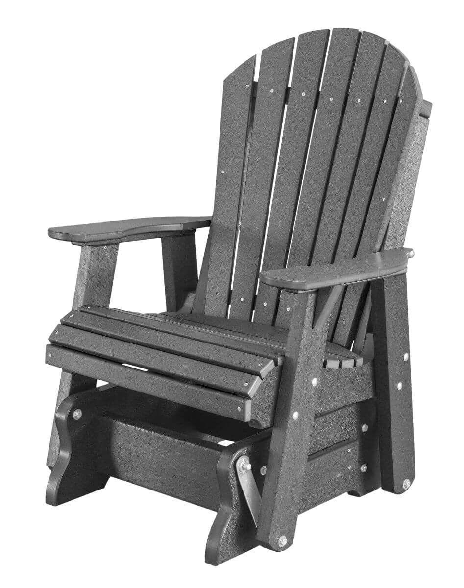 Dark Gray Sidra Outdoor Glider Chair