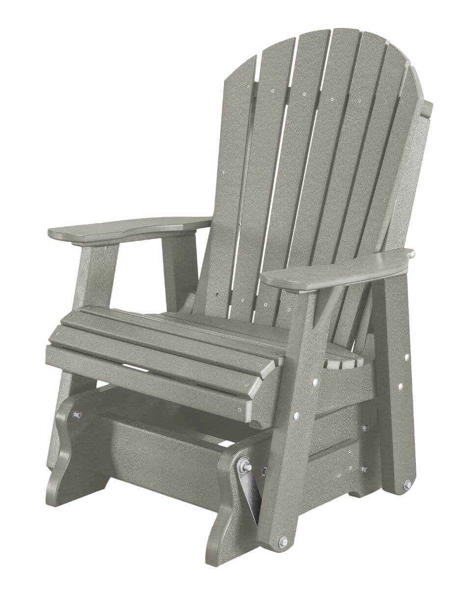 Light Gray Sidra Outdoor Glider Chair