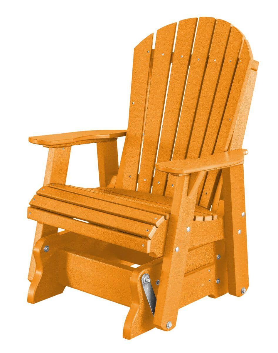 Bright Orange Sidra Outdoor Glider Chair