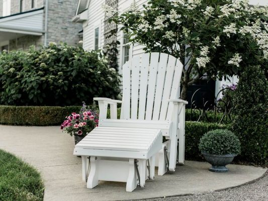White Poly Lumber Seating Set
