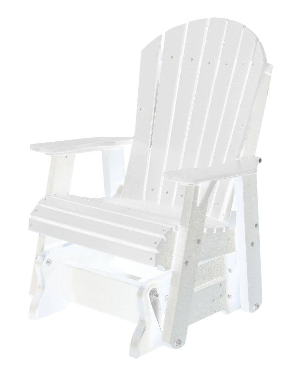 White Sidra Outdoor Glider Chair