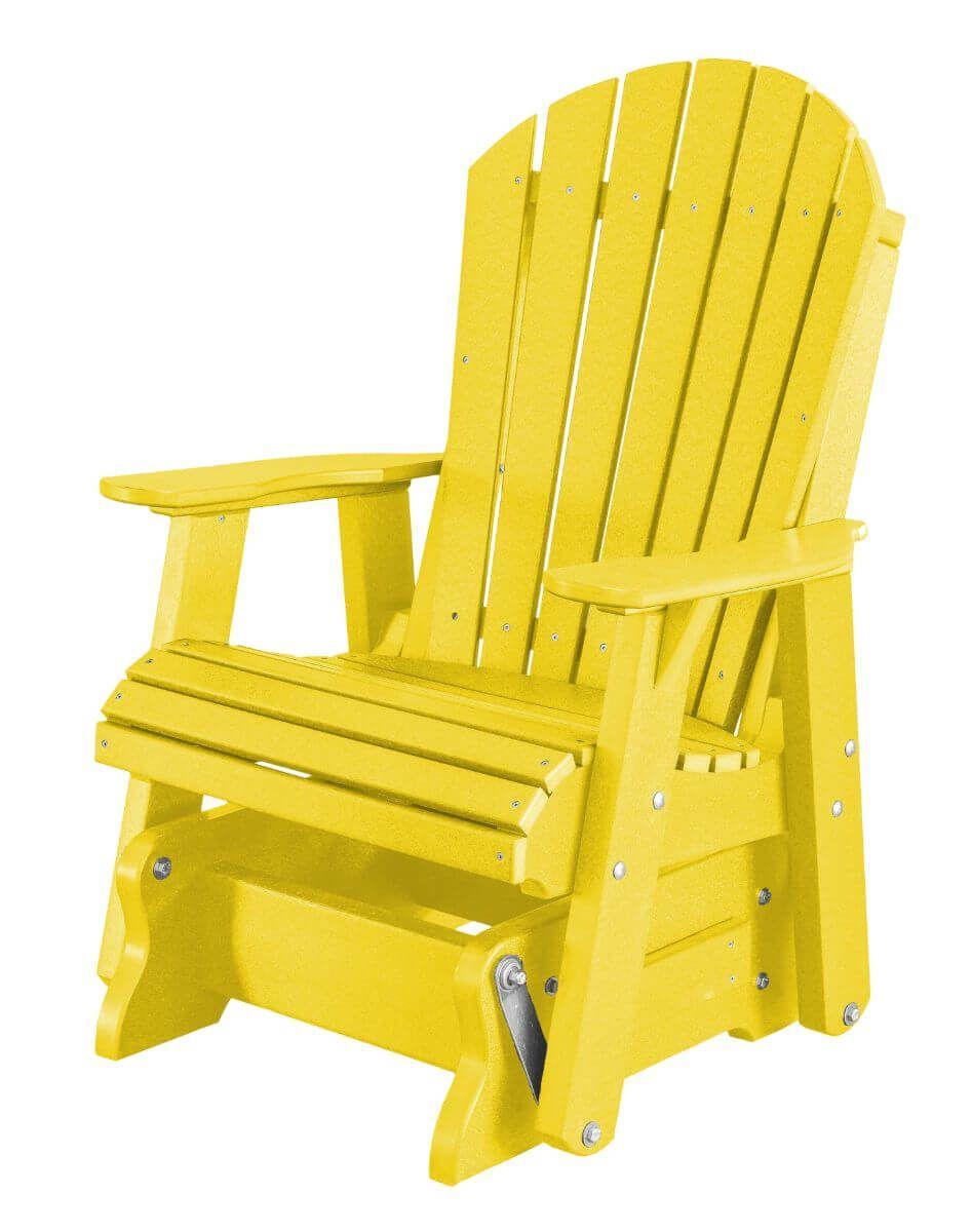 Lemon Yellow Sidra Outdoor Glider Chair
