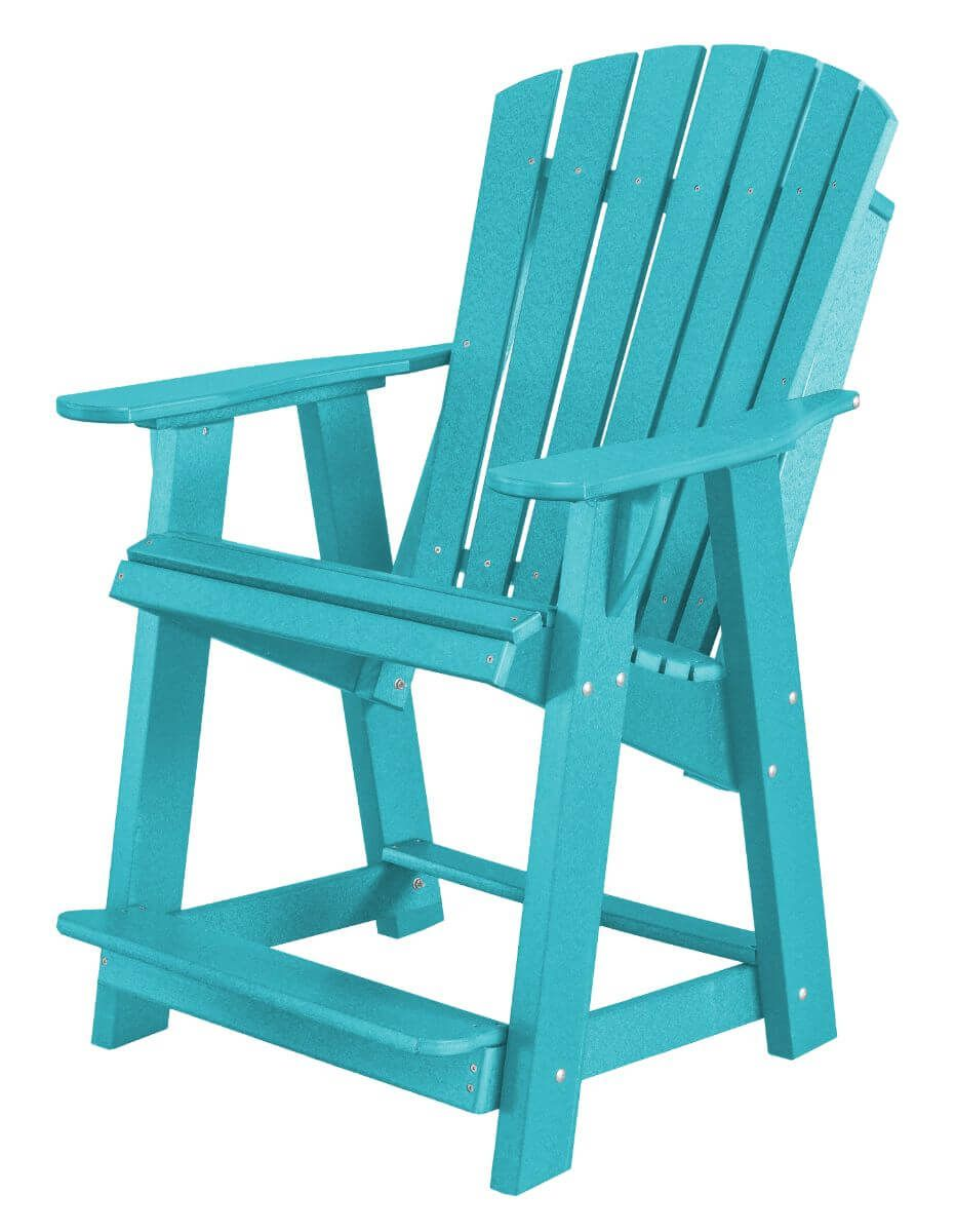 Aruba Blue Sidra High Adirondack Chair