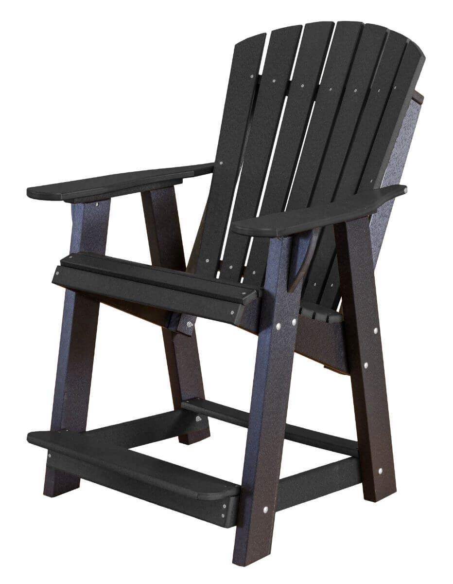 Black Sidra High Adirondack Chair