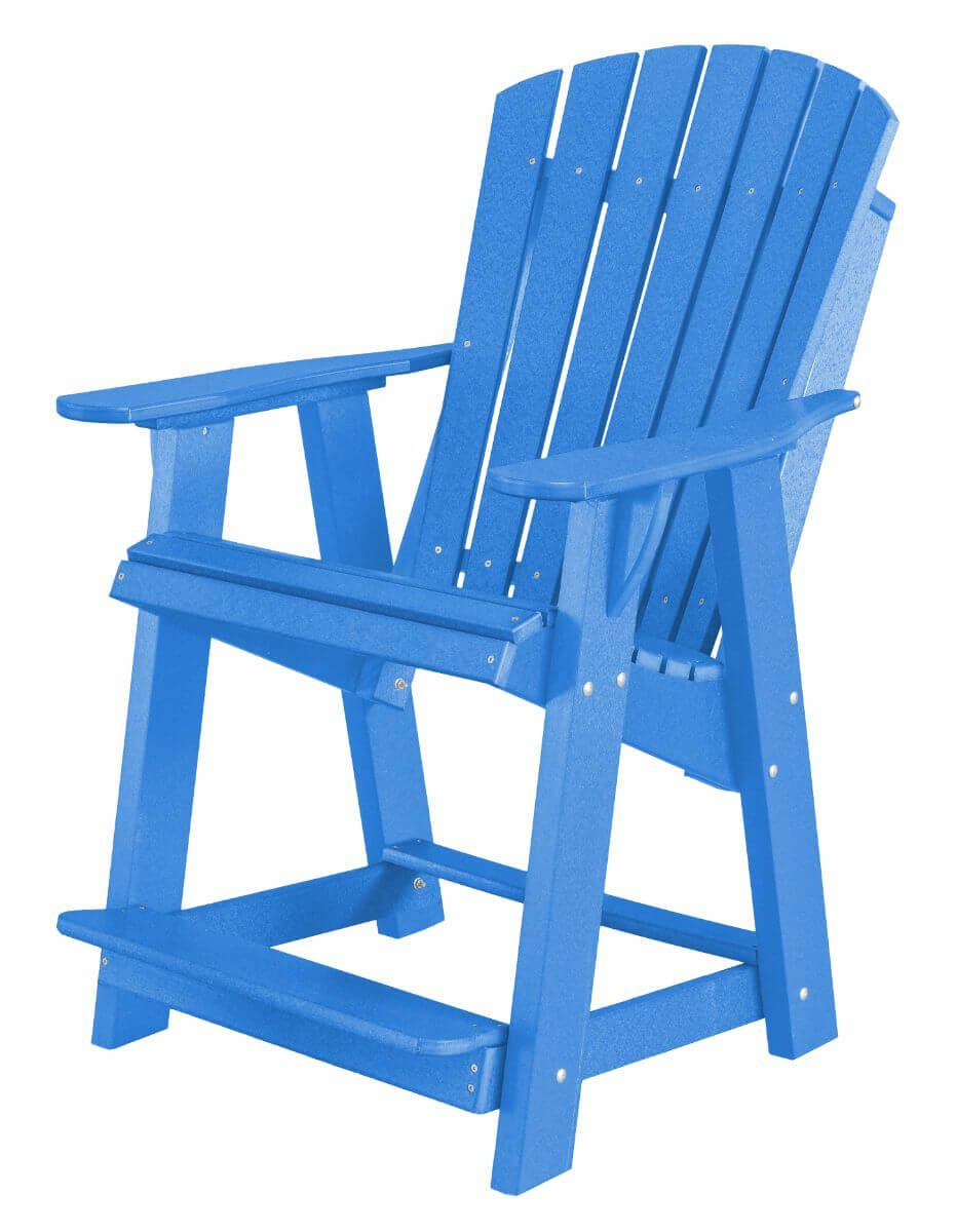 Blue Sidra High Adirondack Chair