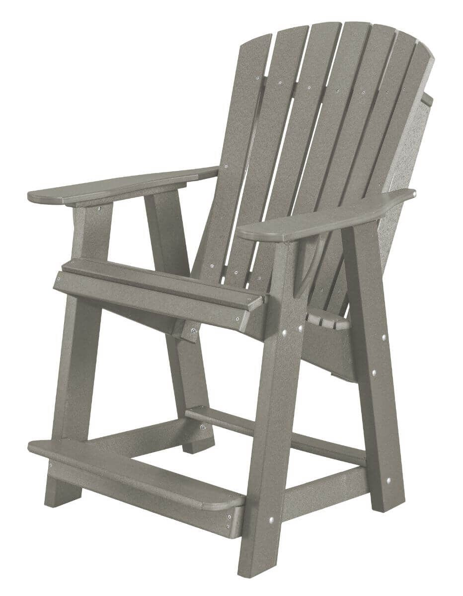Light Gray Sidra High Adirondack Chair