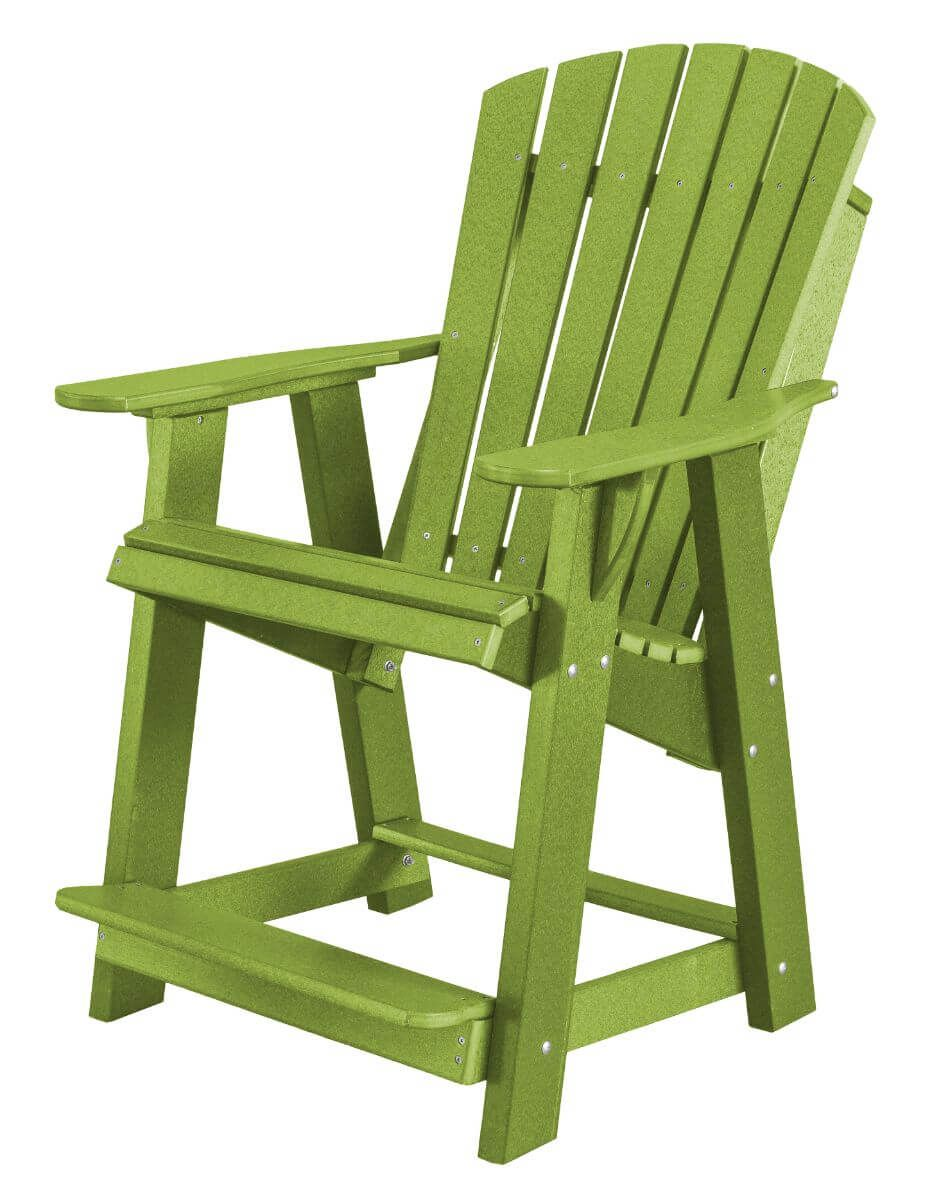 Lime Green Sidra High Adirondack Chair