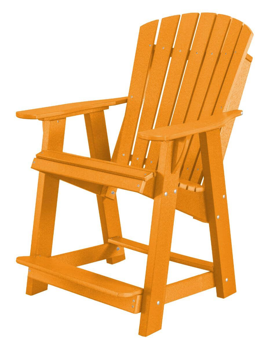 Bright Orange Sidra High Adirondack Chair