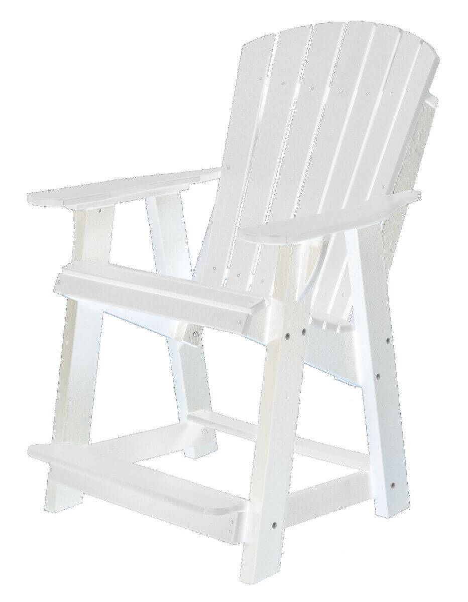 White Sidra High Adirondack Chair