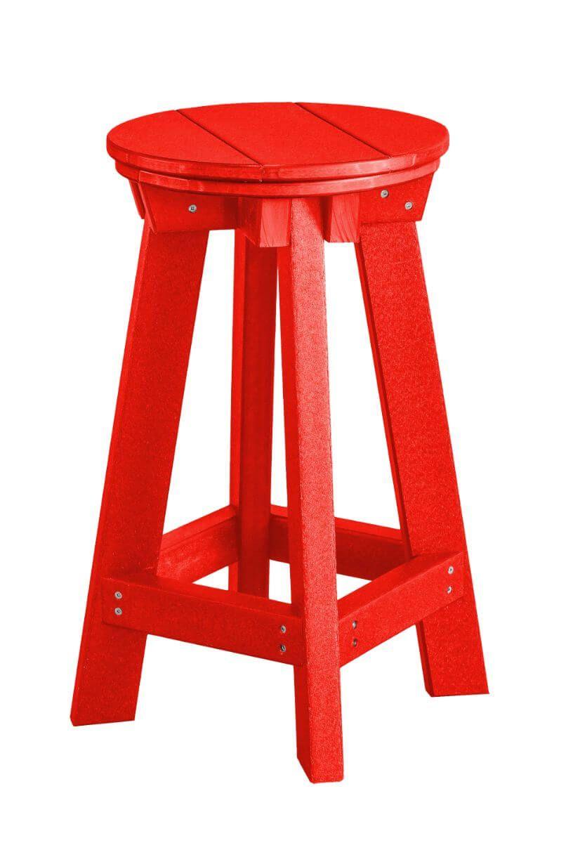 Bright Red Sidra Outdoor Bar Stool