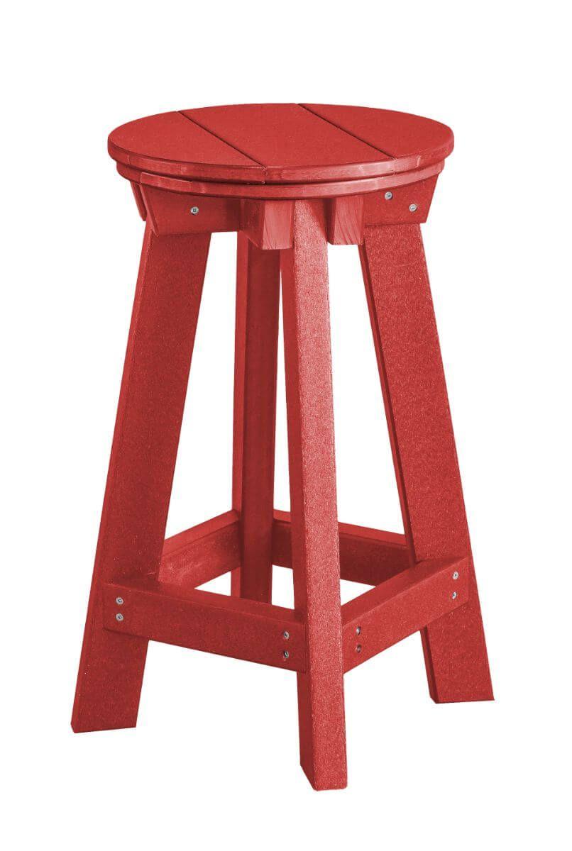 Cardinal Red Sidra Outdoor Bar Stool