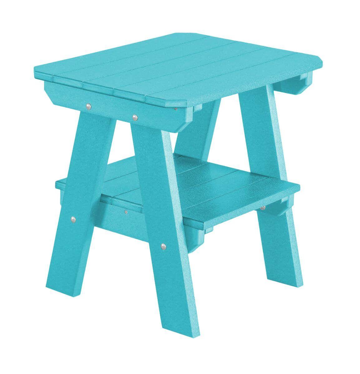 Aruba Blue Sidra Outdoor End Table