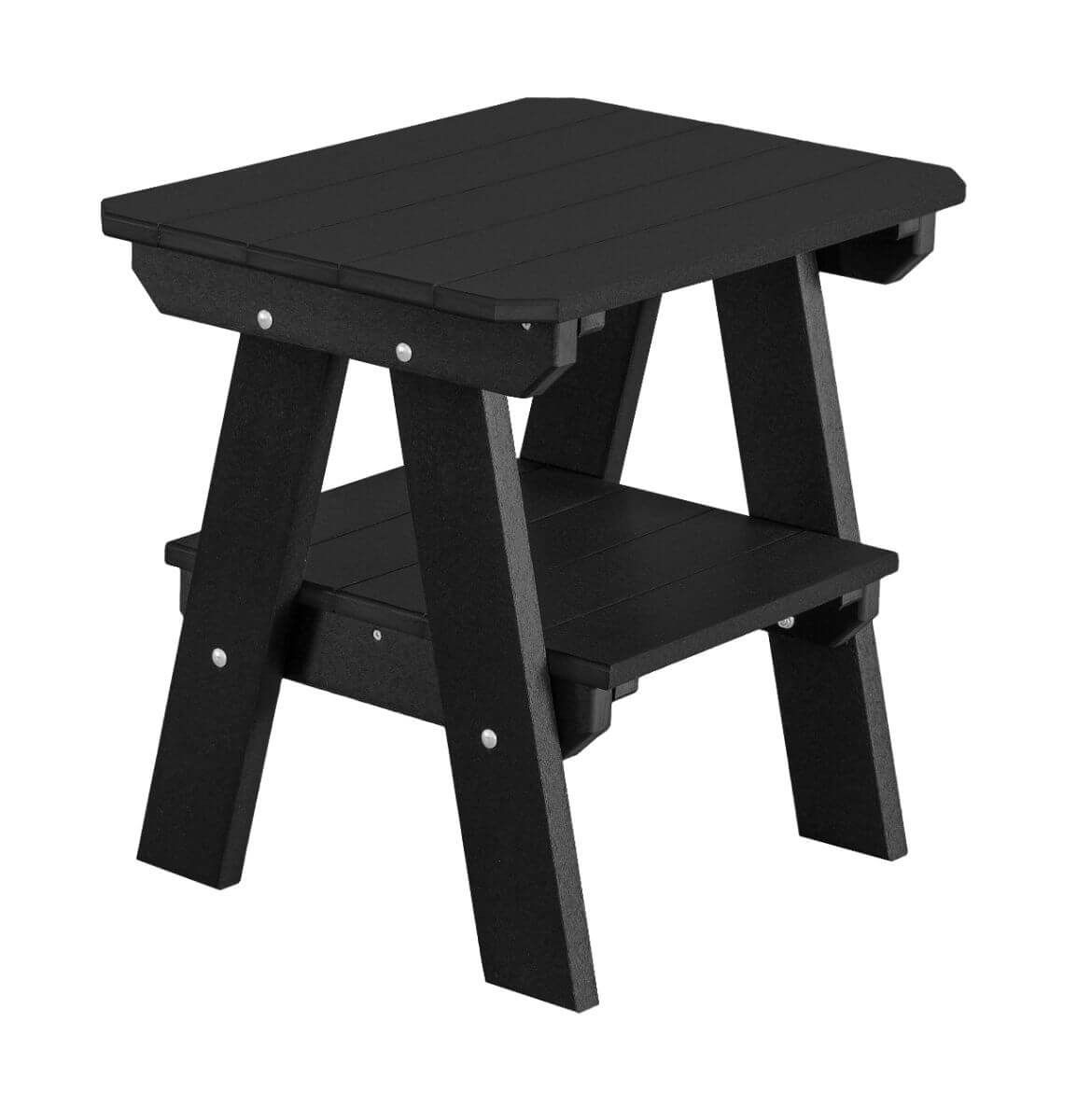Black Sidra Outdoor End Table