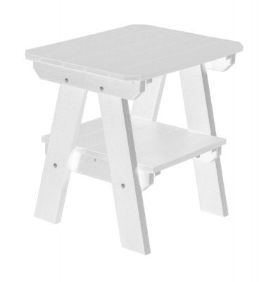 White Sidra Outdoor End Table