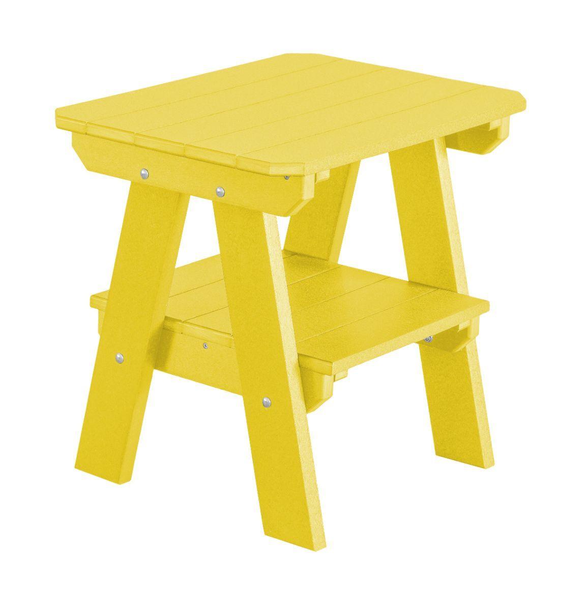 Lemon Yellow Sidra Outdoor End Table