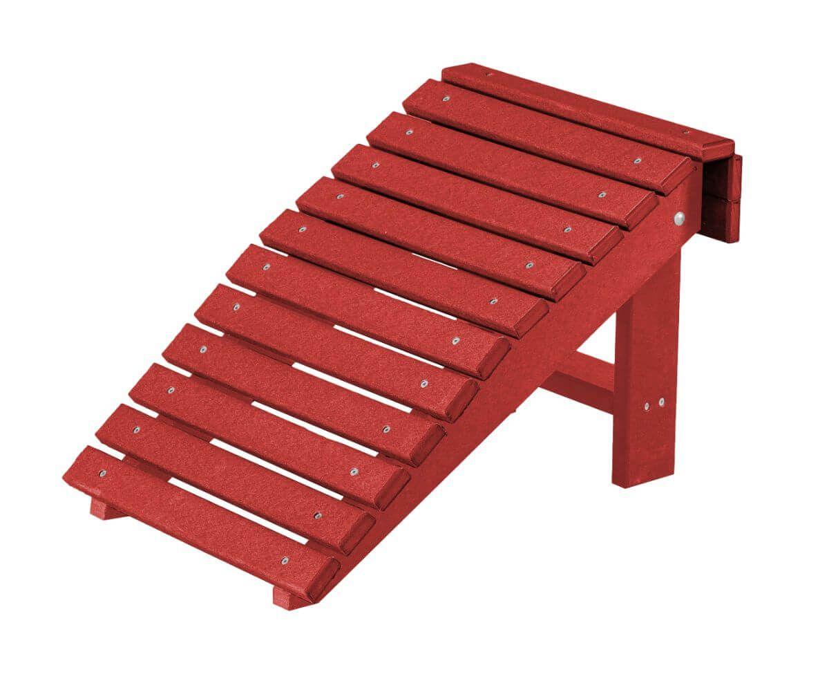 Cardinal Red Sidra Outdoor Folding Footstool