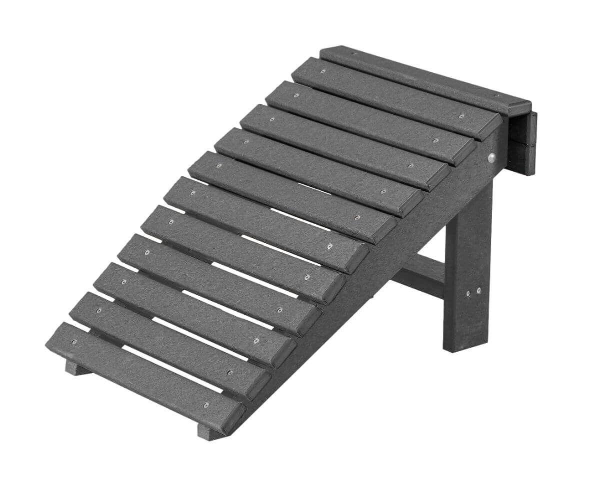 Dark Gray Sidra Outdoor Folding Footstool