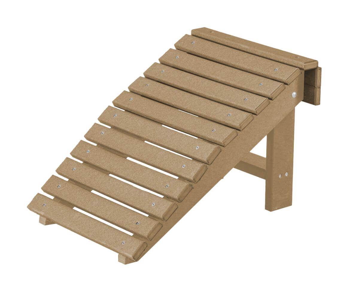 Weathered Wood Sidra Outdoor Folding Footstool