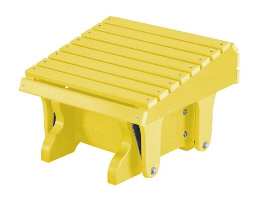 Lemon Yellow Sidra Outdoor Gliding Footrest