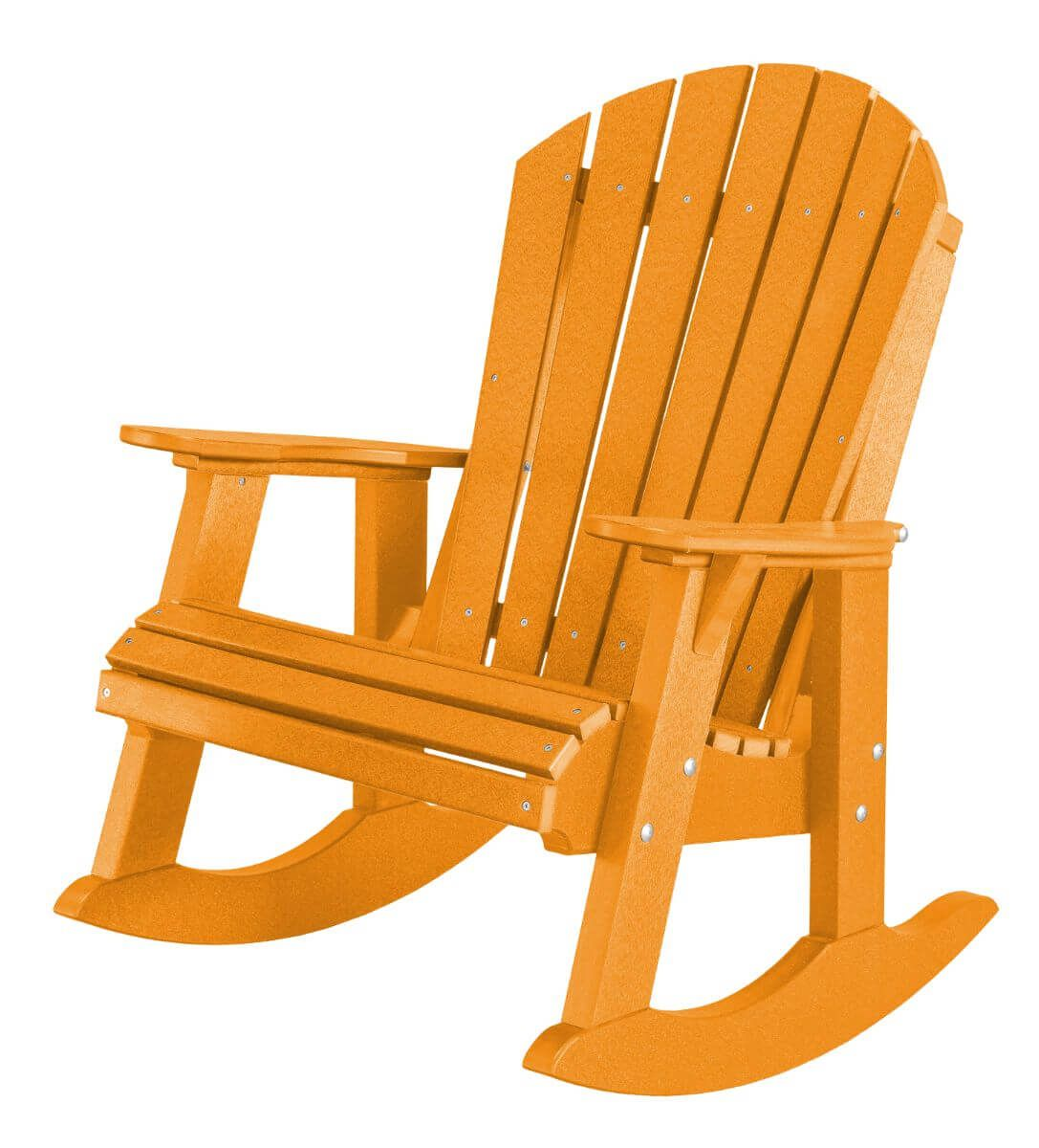Bright Orange Sidra Adirondack Rocker