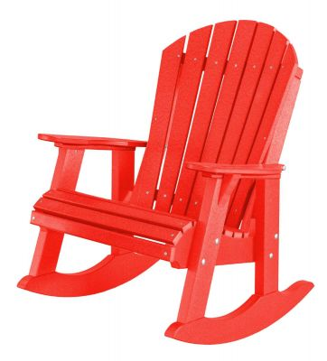 Bright Red Sidra Adirondack Rocker