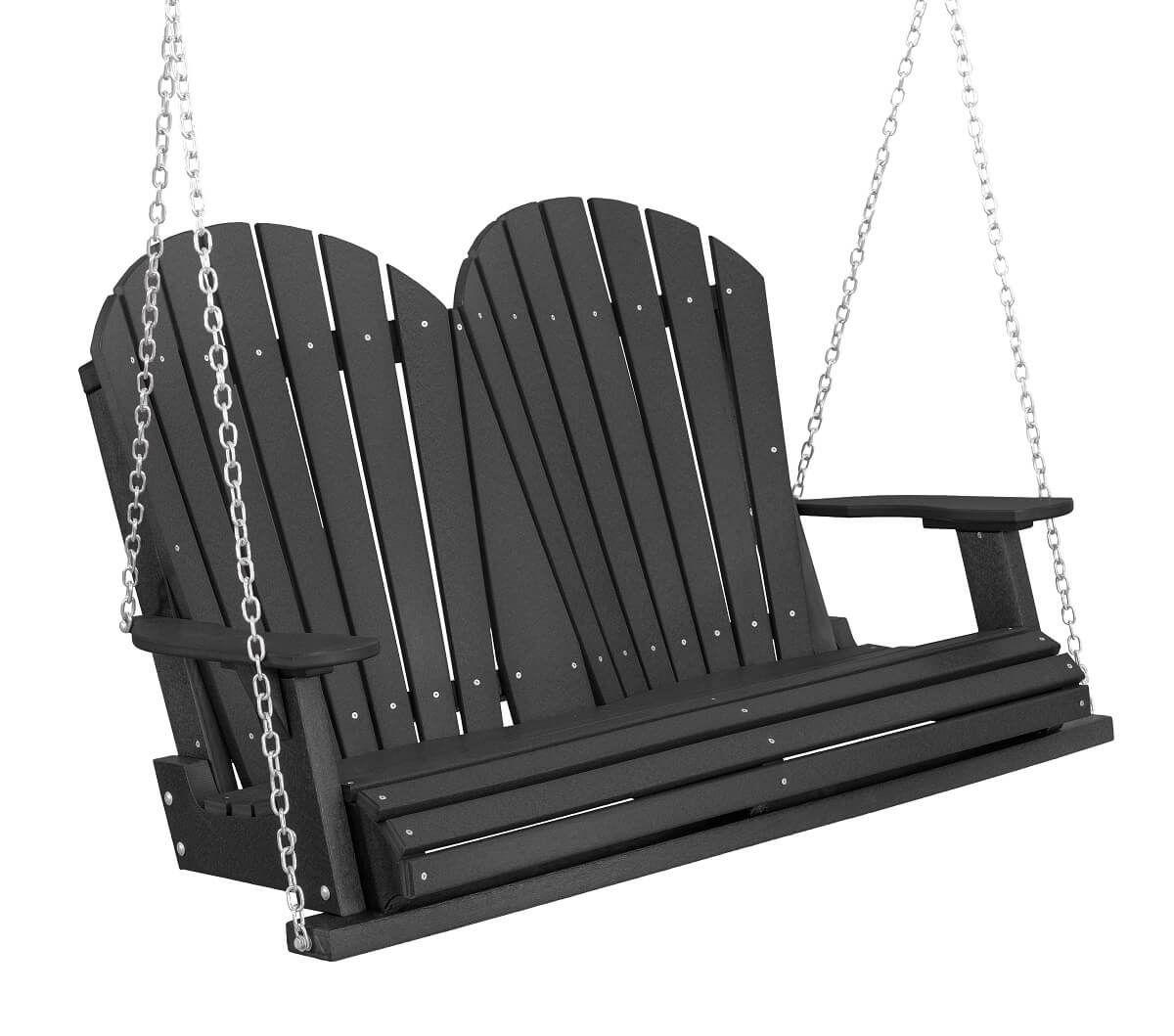 Black Sidra Outdoor Porch Swing