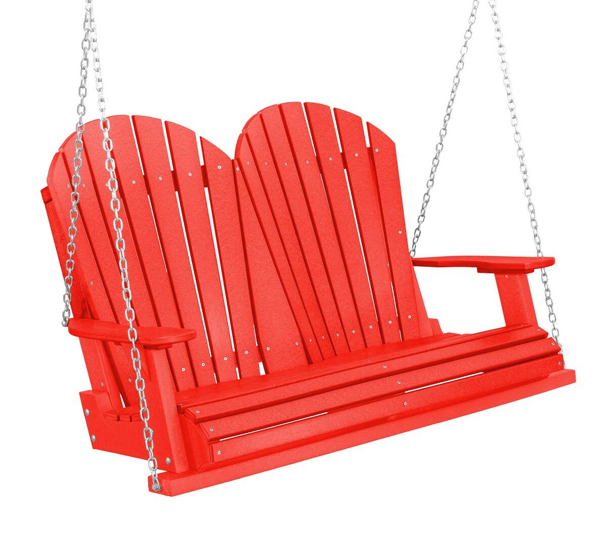 Bright Red Sidra Outdoor Porch Swing