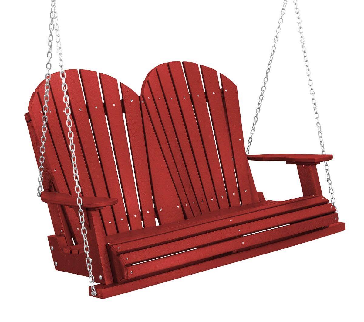 Cardinal Red Sidra Outdoor Porch Swing