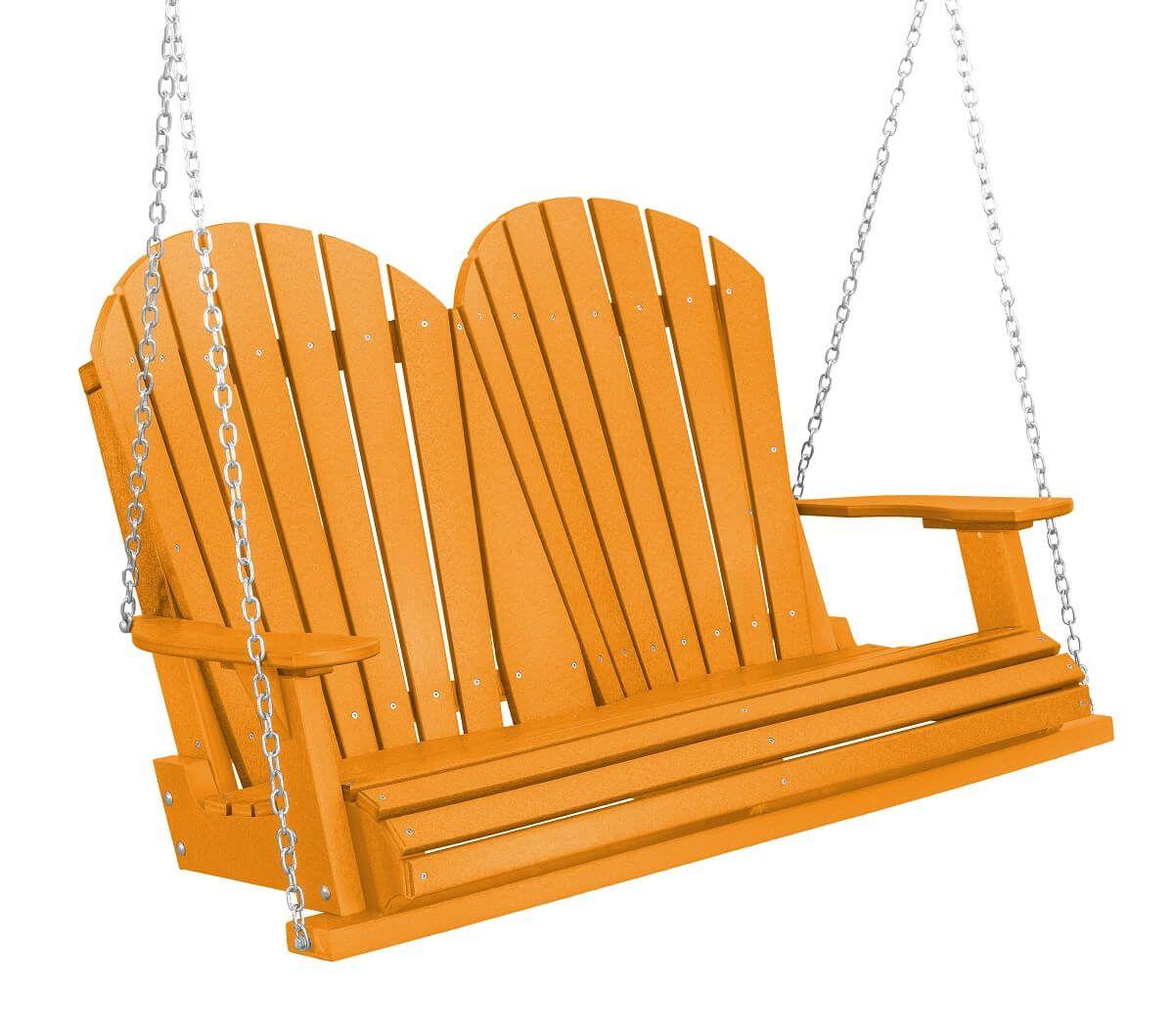 Bright Orange Sidra Outdoor Porch Swing