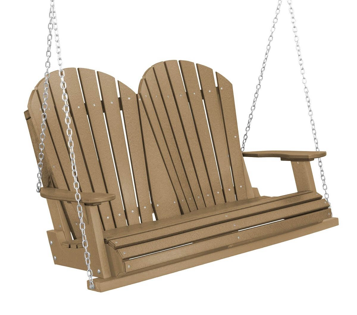 Weathered Wood Sidra Outdoor Porch Swing