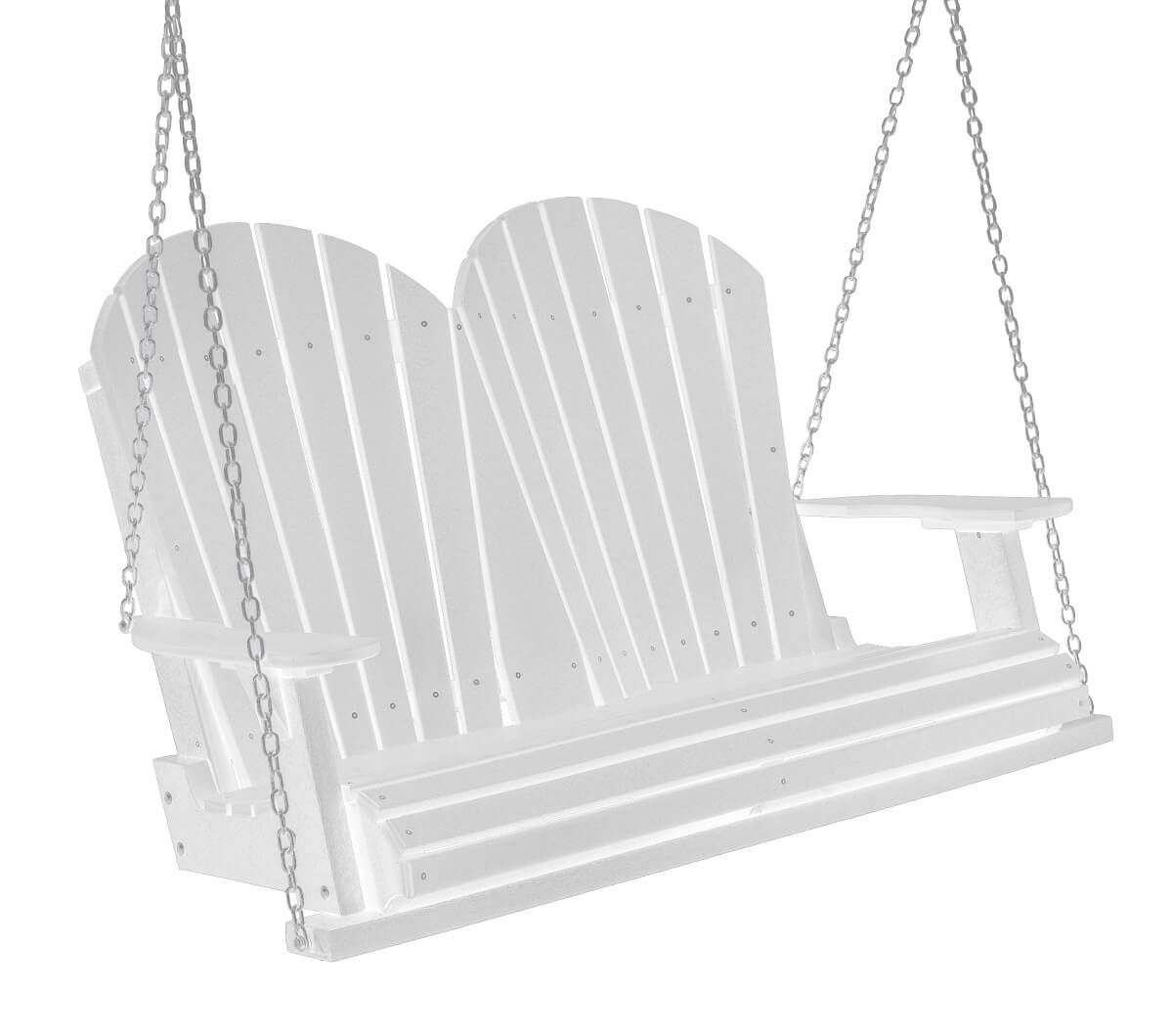 White Cardinal Red Sidra Outdoor Porch Swing
