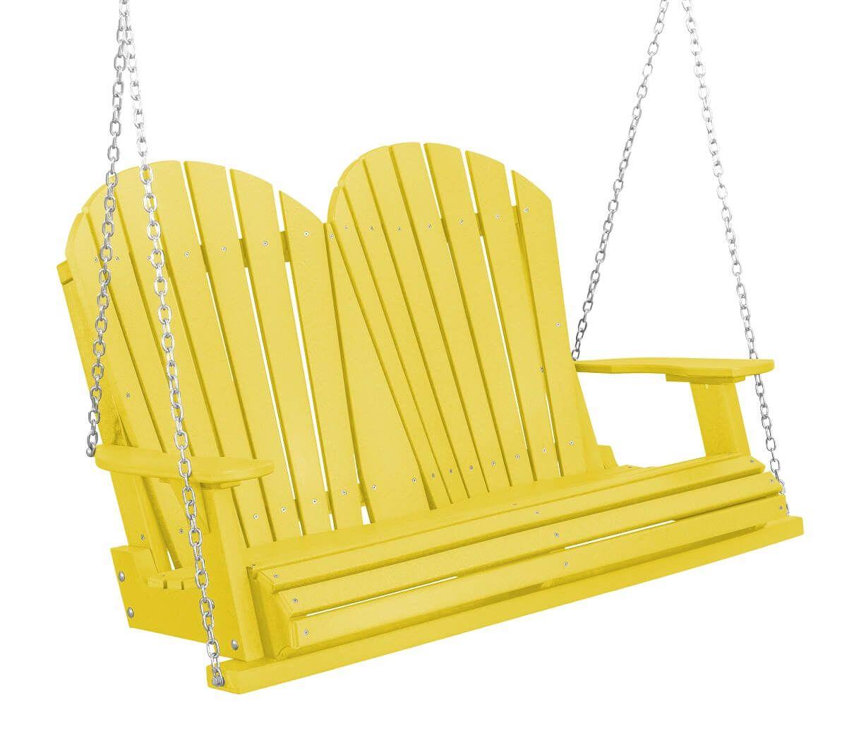 Lemon Yellow Sidra Outdoor Porch Swing