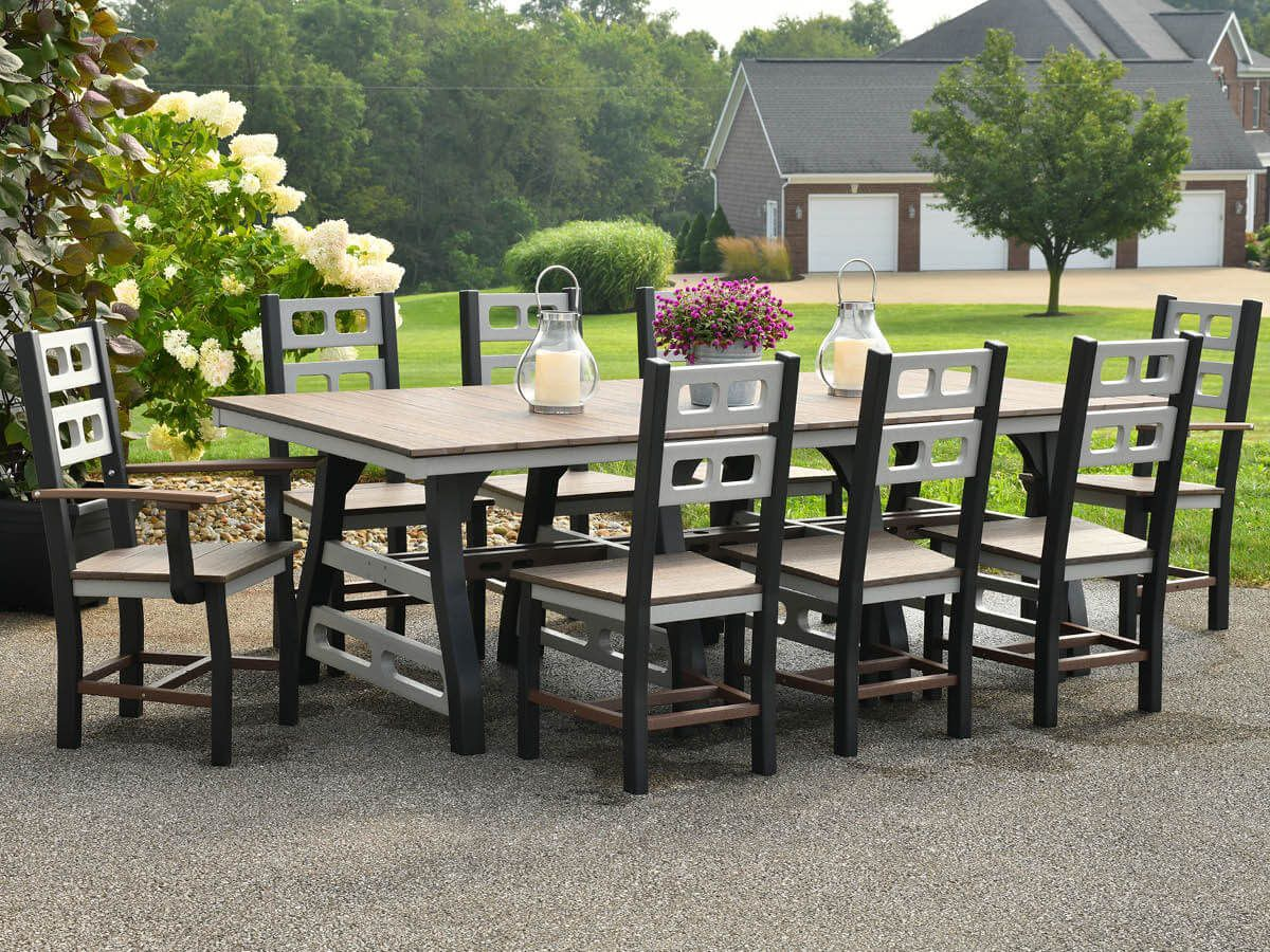 Outdoor Trestle Table and Chairs