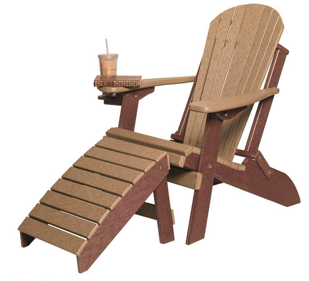 Figi Folding Adirondack Chair and Ottoman