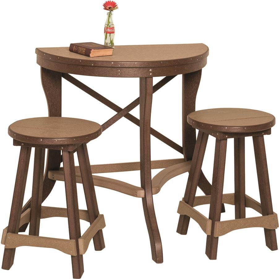 Capri Balcony Half Table and Bar Stools
