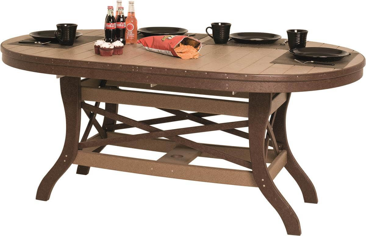 Figi Outdoor Oval Dining Table Countryside Amish Furniture