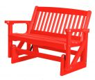 Bright Red Aniva Outdoor Double Glider