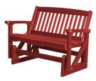 Cardinal Red Aniva Outdoor Double Glider