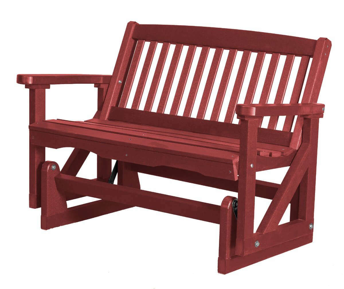 Cherry Wood Aniva Outdoor Double Glider